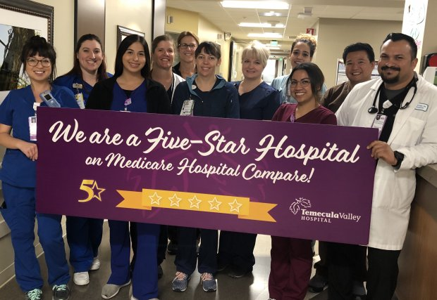 Temecula Valley Hospital Earns 5-Star Medicare Hospital Compare Rating